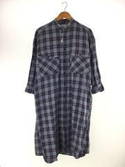 PLAID SHIRT DRESS/シャツワンピース/one/コットン/BLU/チェック/03183909