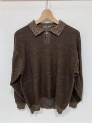ウールニットセーター/--/ウール/BRW/無地