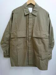 120/2 ビッグポケットシャツ/コットン/カーキ/LUZ2002204A0008