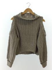 セーター(厚手)/FREE/ウール/GRY
