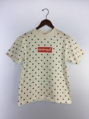 12SS/Polka Dot Box Logo Tee/Tシャツ/S/コットン/ホワイト