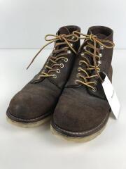 6inch CLASSIC ROUND TOE/ブーツ/25cm/BRW/ソール減り/使用感有