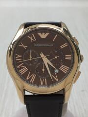 クォーツ腕時計/アナログ/レザー/BRW/BRW/AR-1701/クロノグラフ/