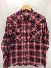 ウェスタンシャツ/長袖シャツ/--/コットン/RED/チェック