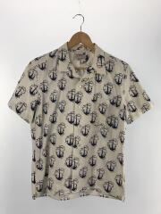 オープンカラーシャツ/M/コットン/WHT/襟汚れ有り
