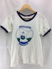 70s/バータグ/Tシャツ/M/コットン/WHT