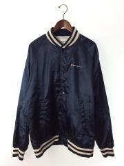 13SS/Champion/Satin Jacket/スタジャン/XL/サテン/ポリエステル/NVY