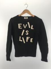 EVIL IS LIFE/13s/セーター(厚手)/XS/ウール/BLK