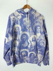 Jesus and Mary Hooded Sweatshirt/M/コットン/18FW/BLU/総柄/プルオーバー
