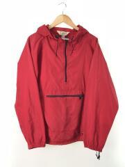 ナイロンジャケット/M/ナイロン/RED/80s-90s/三角タグ/アノラックパーカー/袖汚れ有