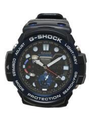クォーツ腕時計・G-SHOCK/デジアナ/BLU/ガルフマスター/黒青
