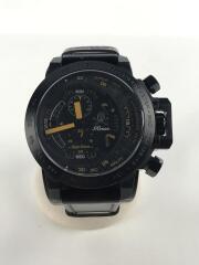 ×Angel Clover/クォーツ腕時計/アナログ/レザー/BLK/BRW/TC48