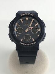 BABY-G/クォーツ腕時計/デジアナ/ラバー/NVY/NVY/BGA-2510