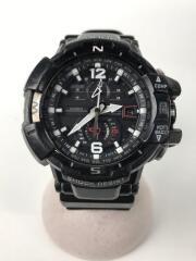 ソーラー腕時計・G-SHOCK/アナログ/ラバー/BLK/BLK/GW-A1100