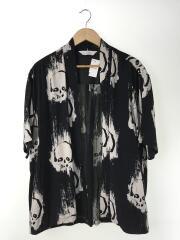 半袖シャツ/L/レーヨン/BLK/しゃれこうべ/20SS