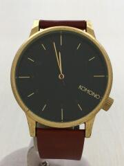 クォーツ腕時計/THE WINSTON/アナログ/レザー/ブラック/ブラウン