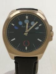 クォーツ腕時計/F335-T021476/5アイズ/アナログ/レザー/ブラック/ブラウン