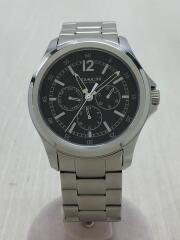 CA.94.2.95.1198/クォーツ腕時計/アナログ/ステンレス/ブラック/シルバー