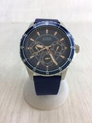クォーツ腕時計/w0742g1/ロンジテュード/アナログ/ラバー/ネイビー/ネイビー