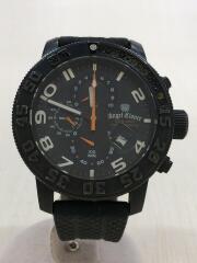 クォーツ腕時計/SC46/アナログ/ラバー/ブラック