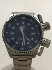 クォーツ腕時計/TGM513/アナログ/ステンレス/ブルー/シルバー