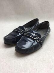 Q3306/ローファー/フラットシューズ/靴/22.5cm/ネイビー/紺/エナメル