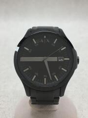 AX7101/クォーツ腕時計/アナログ/ステンレス/ブラック/黒