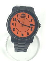 ER02-D7-B/自動巻腕時計/アナログ/ステンレス/オレンジ/ブラック