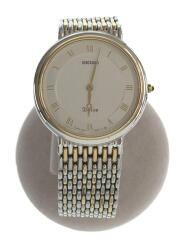 8N40-6030/Dolce/クォーツ腕時計/アナログ/ステンレス/ホワイト/シルバー/ゴールド