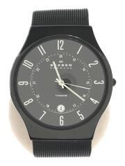233XLTMB/クォーツ腕時計/アナログ/ステンレス/ブラック/黒