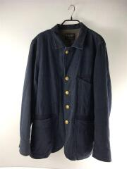ヘリンボーンワークジャケット/3152008/カバーオール/XL/コットン/ネイビー
