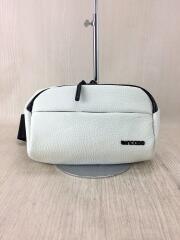ウエストバッグ/レザー/WHT/無地/Pebbled Leather Side Bag/ホワイト/白