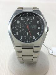 クォーツ腕時計/アナログ/BLK/SLV/黒/ブラック/シルバー/銀/I11607G3