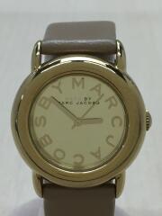 クォーツ腕時計/アナログ/レザー/ゴールド/ベージュ/MBM1182