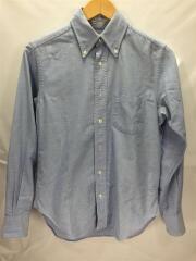 インディビジュアラズドシャツ/ボタンダウンシャツ/長袖シャツ/14.5/コットン/BLU