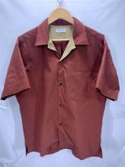 オープンカラーシャツ/M/ポリエステル/BRW/無地/63-05-82-05103/2018SS