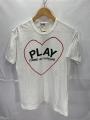 ギャルソン/プレイ/ロゴ/ハート/Tシャツ/M/コットン/WHT/AZ-T032