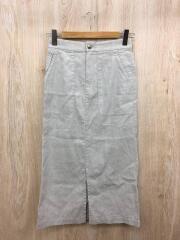 リネンコットンタイトスカート/2020SS/ロングスカート/36/リネン/GRY/20-060-900-0310-2
