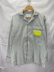 長袖シャツ/40/コットン/GRN/ストライプ/タイプライターストライプパジャマシャツ/2020SS