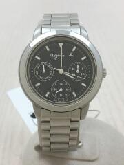 クロノグラフ/クォーツ腕時計/アナログ/ステンレス/BLK/SLV/V33J-0010