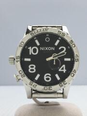 NIXON/ニクソン/クォーツ腕時計/アナログ/ステンレス/BLK/SLV/A057-487