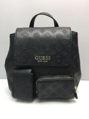 GUESS/リュック/レザー/BLK/総柄