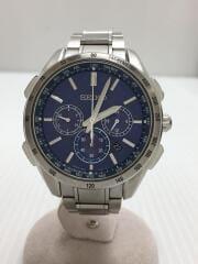 SEIKO/ソーラー腕時計/アナログ/ステンレス/NVY/SLV