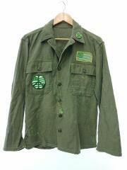 50~60年代/VINTAGE/アメリカ軍/長袖シャツ/--/コットン/KHK/無地