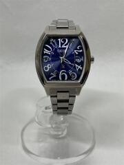 LUKIA/ソーラー腕時計/アナログ/ステンレス/NVY/SLV/1B22-0BC0/箱有