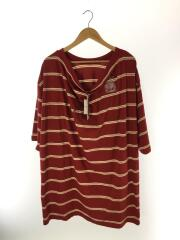 youser/Tシャツ/M/コットン/RED/ボーダー