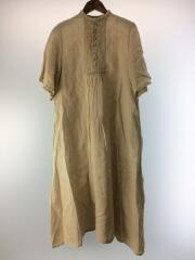2019SS/Natural dye linen dress/半袖ワンピース/FREE/リネン/BRW