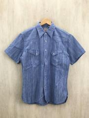 半袖シャツ/42/コットン/BLU