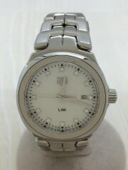 LINK/クォーツ腕時計/アナログ/ステンレス/WHT/SLV/WBC1312.BA0600/リンク