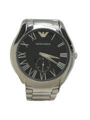 VALENTE/クォーツ腕時計/アナログ/ステンレス/BLK/AR-11086